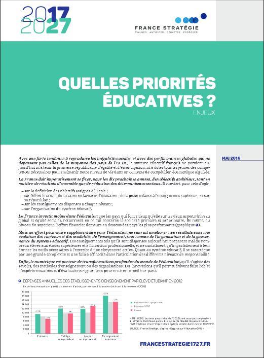 Note d'analyse - France Stratégie